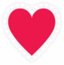 Heart Lace Silhouette Cutout