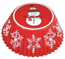 Snowman Cupcake Baking Cups ~ 75 Pack