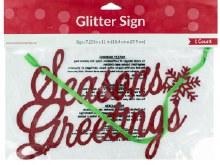 Season's Greetings Glitter Sign