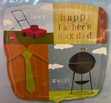 """Happy Father's Day Classic Lawn & Grill Mylar ~ 18"""""""