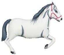 """Jumbo Horse White ~ 43"""""""