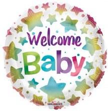 "Welcome Baby Coloful Stars ~ 18"""