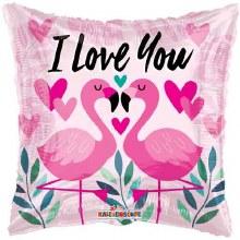 "I Love You Flamingo ~ 18"""