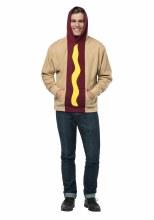 Hot Dog Hoodie Adlt L