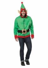 Elf Hoodie Adlt M