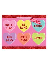 Gift Bag Med Candy Heart