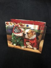 Gift Bag Holiday Bulldogs