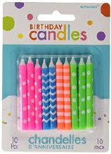 Candle Birthday Asst Neon