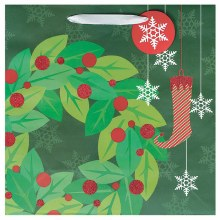 Gift Bag Contemporary Wreath