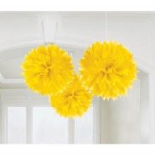 Fluffy Decor Sunshine Yellow 3pc