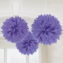 Fluffy Decor New Purple 3pc