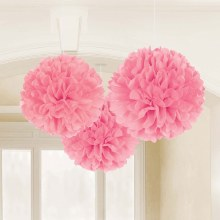 Fluffy Decor New Pink 3pc