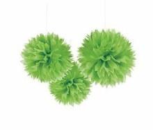 Fluffy Decor Green Kiwi 3pc