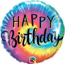 "Tie Dye Happy Birthday ~ 18"""