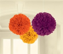Fluffy Decorations Fall 3pc