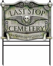 Cemetary Sign w/ Stakes