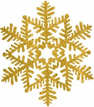 Snowflake Gold Glitter 6.5in