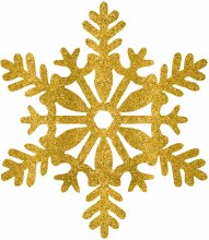 Snowflake Gold Glitter 11in