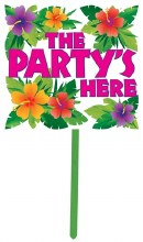Summer Luau Party Yard Sign