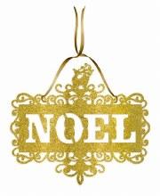 Small Noel Glitter Cutout Sign