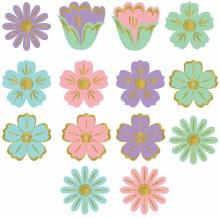Spring Glitter Value Mini 2.5in Cutouts 50pk