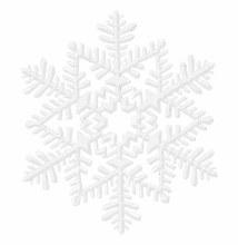Snowflake White Glitter 6.5in