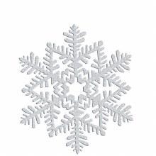 Snowflake Silver Glitter 6.5in