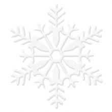 Snowflake White Glitter 11in