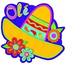Fiesta Sombrero Cutouts 8in