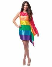 Rainbow Flag Dress One Size