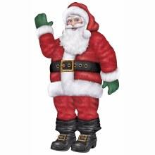 Life Size Jointed Santa Cutout ~ 5.5' Tall