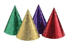 Prismatic Cone Hats 6ct