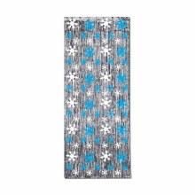 Snowflake Metallic Door Curtain ~ 8' x 3'
