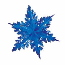 Snowflake Metallic Blue