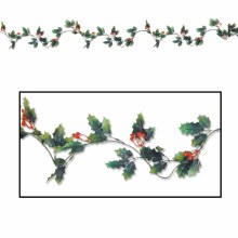 6' Holly Berry Garland