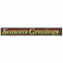 Season's Greetings Metallic Foil Fringe Banner ~ 5'