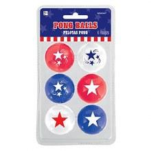 Patriotic Pong Balls 6pk