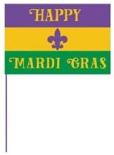 Mardi Gras Flag 12x18
