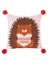 Valentine Hedge Hugs Pillow