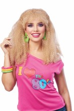 Wig 80's Crimped Blonde