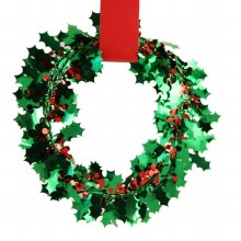 25' Holly Foil Wire Garland