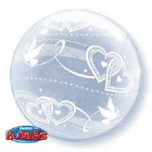 Bubble ~ Doves & Hearts All Around ~ 20""