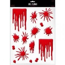 Splats & Drips Blood Gel Cling