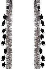 Grad Tinsel Garland Silver 9ft