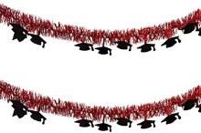 Grad Tinsel Garland Red 9ft