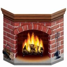 Stand-Up Brick Fireplace