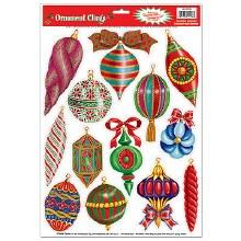 Cling Xmas Ornaments