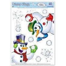 Snowman Window Clings