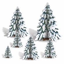 Winter Pine Centerpiece 3D