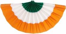 Irish Bunting Fabric Grn/Wht/Orng